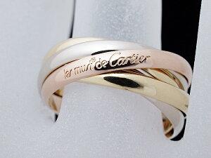 カルティエ CARTIER トリニティリング5連リング 750スリーカラーゴールド 5BANDRING 19号【中古】【ロイヤルブルー】【送料無料】
