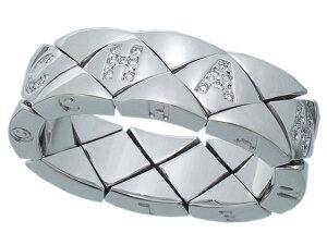 シャネル CHANEL 限定モデル マトラッセリング ロゴダイヤモンド キルティングパターン極美品750WGホワイトゴールド ココシャネル 10号【中古】【ロイヤルブルー】【送料無料】