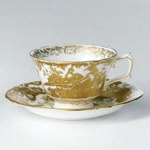 【英国王室御用達】ティーカップ&ソーサー コーヒー紅茶 イギリス 内祝い ギフト ロイヤルクラウンダービー ゴールドエイビス