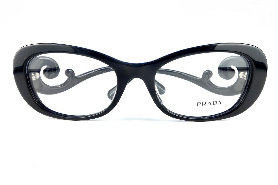 PRADA/プラダVPR09P-A 1AB-1O1-国内正規品-眼鏡フレーム【基本レンズ無料】【送料無料】レディースアジアンフィット定価33,480円