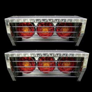 【送料無料】【ステンレステールボックス ウロコ柄+選べるテール6個セット 中型車用】トラック デコトラ パーツ トラック用品 ステンレス RoyalQueen
