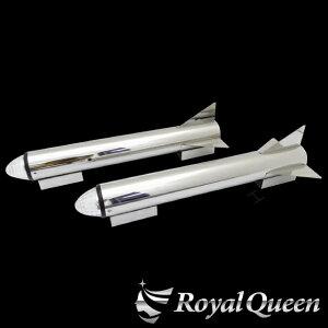 【送料無料】【ロケットマーカー 670mm RM600 鏡面 磨き#1000 左右2本セット マーカー2個付き】トラック デコトラ パーツ トラック用品 ステンレス RoyalQueen