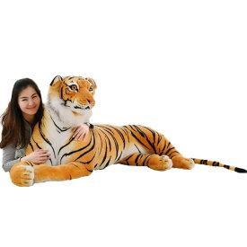 虎 ぬいぐるみ トラ お誕生日プレゼント 大きい 動物園 手触りふわふわ 動物 抱き枕 ギフト 贈り物 男の子 店飾り おもちゃ インテリア ディスプレイ 150cm