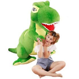 恐竜のぬいぐるみ リアル恐竜 おおあご キョウリュウ お誕生日プレゼント 大きい 手触りふわふわ 動物 抱き枕 彼女 ギフト 贈り物 女の子 店飾り グリーン おもちゃ110cm