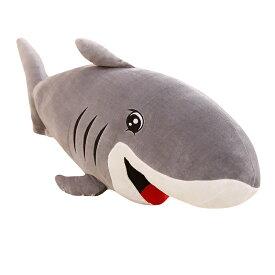 サメ ぬいぐるみ 超大 巨大 特大 かわいい おもちゃ おもしろい 可愛い 寝室 インテリア ふわふわ 動物 人形 ベッドルーム プレゼント 店飾り 誕生日 入学祝い 卒業祝い クリスマス 贈り物 ブルー 145cm