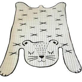 INS北欧風のアニマル ラグ・マット キッズ 動物ラグマット敷マット オムツ替えマット インテリア 撮影道具 部屋飾り モノトーン 全長約130*185cm