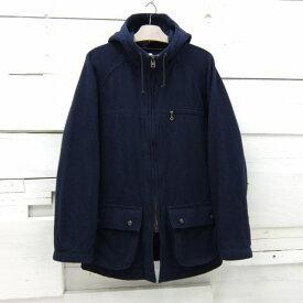 KATO` カトー フード付き ウールジャケット マウンテンパーカー ネイビー メンズ Lサイズ / jkt606 / 【中古】
