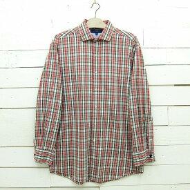 Tommy Hilfiger トミーヒルフィガー ホリゾンタルカラー チェックシャツ ダブルカフス メンズ Lサイズ相当 / lsshirt64sa / 【中古】