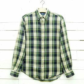 Ralph Lauren ラルフローレン チェック柄 ボタンダウン ヘビーフランネルシャツ メンズ Sサイズ / lsshirt65sa / 【中古】