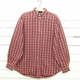Ralph Lauren ラルフローレン チェック柄 ボタンダウン ヘビーフランネルシャツ メンズ Lサイズ相当 / lsshirt67sa / 【中古】