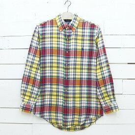 Ralph Lauren ラルフローレン チェック柄 CUSTOM FIT ネルシャツ メンズ Sサイズ / lsshirt90sa / 【中古】