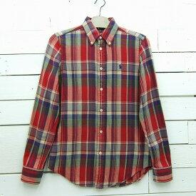 Ralph Lauren ラルフローレン CLASSIC FIT チェック柄 ボタンダウンシャツ メンズ XSサイズ / lsshirt158sa / 【中古】