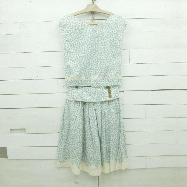 mina perhonen ミナペルホネン sprout シルク スカート ブラウス セットアップ W26 / skirt14 / 【中古】
