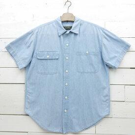 Ralph Lauren country ラルフローレン カントリー ショートスリーブ シャンブレーシャツ 無地 レディース XLサイズ相当 / ssshirt12sa / 【中古】