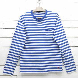 Ralph Lauren ラルフローレン 長袖 ロングスリーブ 刺繍 ポケット付きTシャツ ボーダー メンズ Mサイズ / tshirt29sa / 【中古】