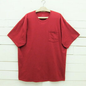 FRUIT OF THE LOOM フルーツオブザルーム 無地 ポケット付きTシャツ ワインレッド系 メンズ 2XLサイズ / tshirt64sa / 【中古】