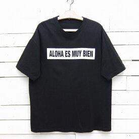 MauiBuilt ALOHA ES MUY BIEN ロゴ プリントTシャツ ブラック メンズ XLサイズ相当 / tshirt267sa / 【中古】