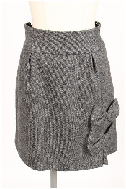 【3月3日に再値下げ!】ウィルセレクション 裾リボンスカート[LSKO07180]【FF】【中古】【5400円以上のご購入で送料無料】