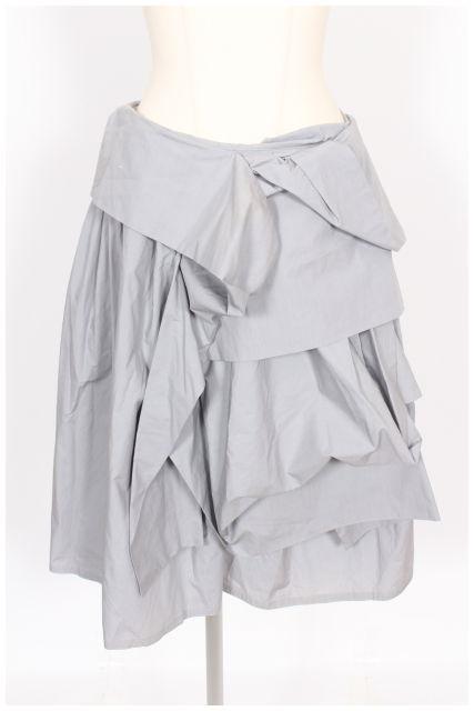 【新入荷!!】マウリツィオペコラーロ コットン変形デザインフレアスカート[LSKO43567]【PP】【中古】【2点以上同時購入or5400円以上のご購入で送料無料】