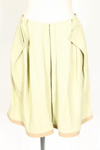 【新入荷!!】ミュウミュウmiumiu バイカラータックフレアスカート[LSKO53624]【PP】【中古】【2点以上同時購入or5400円以上のご購入で送料無料】