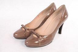[在5月18日再一次降低!]EIZO鰩魚涼鞋波恩裝飾專利女用淺口無扣無帶皮鞋[LFWO83352][中古][用超过5400日圆的購買免運費]