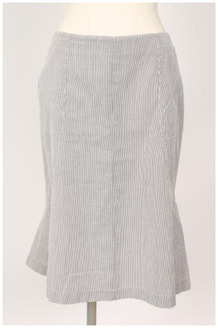 【入荷時より価格値下げ!】ジバンシィGIVENCHY コットンストライプスカート[LSKO16909]【PP】【中古】【2点以上同時購入or5400円以上のご購入で送料無料】
