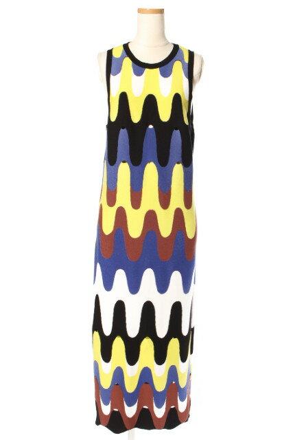 【新入荷!!】エミリオプッチ 総柄カットワークノースリーブニットワンピース[LOPP42699]【SS】【中古】【5400円以上のご購入で送料無料】