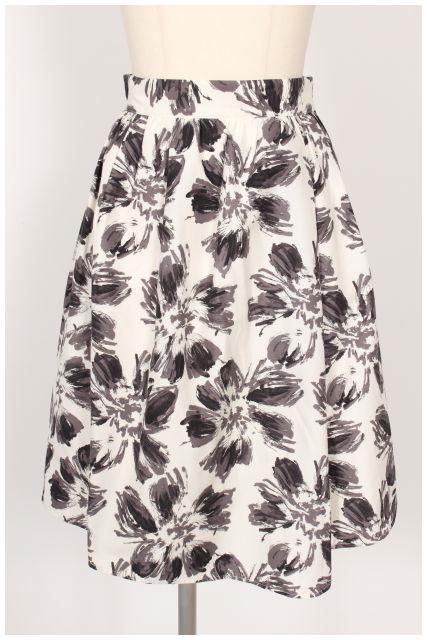 【5月18日に再値下げ!】Swingleスウィングル フラワープリントスカート[LSKO12435]【PP】【中古】【5400円以上のご購入で送料無料】