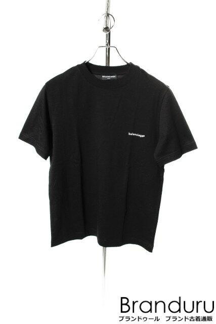 【春夏物新入荷!!】バレンシアガ 17AWロゴプリントTシャツ[MTSP18378]【SS】【中古】【5400円以上のご購入で送料無料】