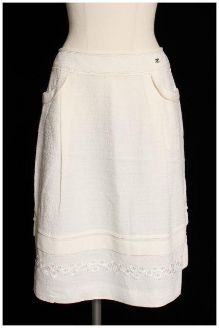 【5月18日に再値下げ!】クレージュCourreges ロゴワンポイントスカート[LSKO08404]【PP】【中古】【5400円以上のご購入で送料無料】