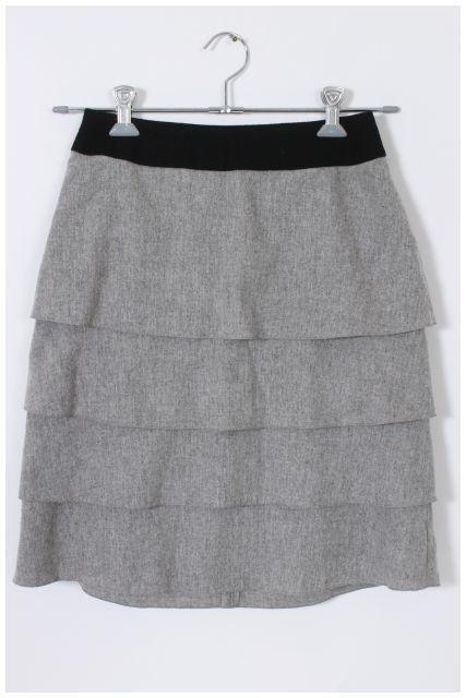 【入荷時より値下げ!】インディヴィINDIVI ティアードスカート[LSKM27398]【FF】【中古】【5400円以上のご購入で送料無料】