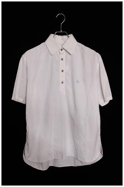 バーバリーブラックレーベル ホース刺繍半袖プルオーバーシャツ[MSHO28443]【PP】【中古】【5400円以上のご購入で送料無料】