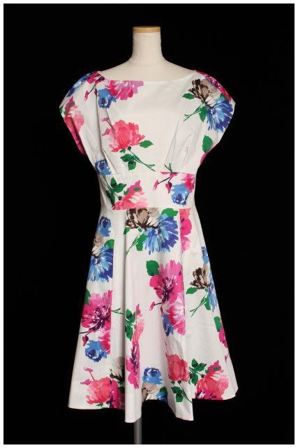 【入荷時より値下げ!】ケイトスペード blooms fit and flare dress ワンピース[LOPN70977]【PP】【中古】【2点以上同時購入or5400円以上のご購入で送料無料】