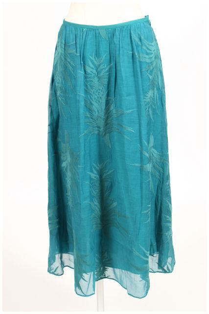 【10月13日に再値下げ!】アナイANAYI 15SSシルク混ボタニカルスカート[LSKN86423]【FF】【中古】【2点以上同時購入or5400円以上のご購入で送料無料】