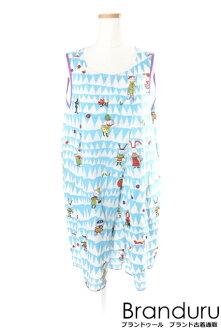 Al vero vero cotton pig whole pattern dress [LOPP20071]
