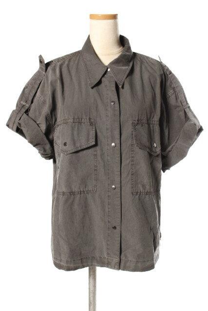 【新入荷!!】セオリーtheory 18SS Garment Dyed Poplin Utility SSシャツ[LSHP48910]【SS】【中古】【5400円以上のご購入で送料無料】
