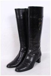 [在6月14日降低!]黛安娜DIANA旁邊皮帶設計長長筒靴[LFWO30073][FF][中古][用超过5400日圆的購買免運費]