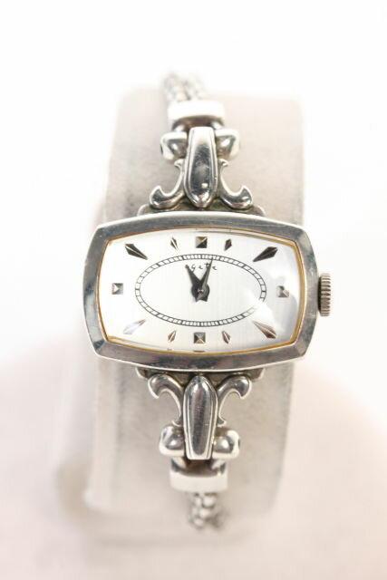【新入荷!!】アガットagete シルバースクエア型腕時計[LWWO70110]【中古】【2点以上同時購入or5400円以上のご購入で送料無料】