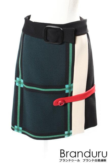【新入荷!!】プラダPRADA ベルトラップスカート[LSKP25084]【中古】【5400円以上のご購入で送料無料】