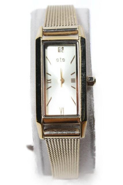 【新入荷!!】エテete レクタングルフェイス腕時計[LWWP81141]【中古】【5400円以上のご購入で送料無料】