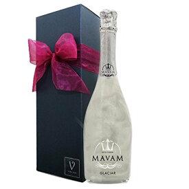 マバムグラシアリボン メッセージカード/シャンパン セット マバム グラシア 内祝い 誕生日プレゼント パーティ おもたせ ラメ スパークリングワイン キラキラ プラチナム 結婚祝
