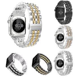 Apple Watch ベルト バンド ステンレススチール 38/40mm 42/44mm