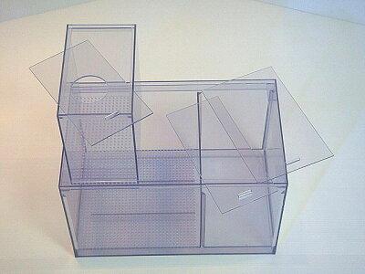 蓋付ウールボックス、濾過槽個別に蓋付底面スノコ付