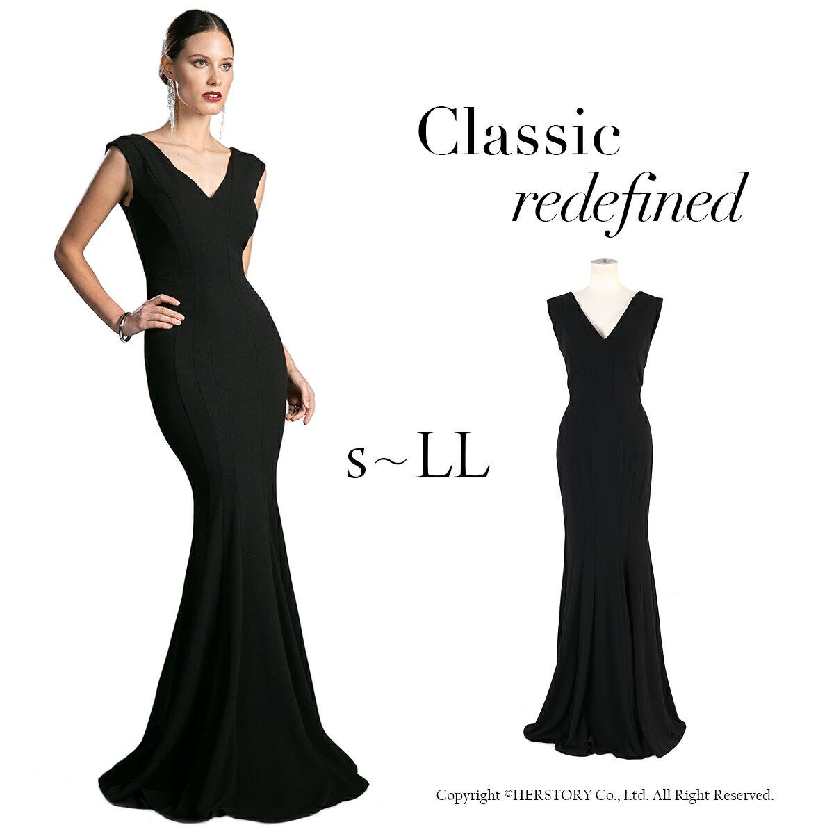 【10/23再入荷】美を極めたマーメイドブラックドレス <演奏会・発表会ステージドレス> FD-230035