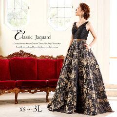クラシックジャカードロングドレス