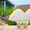送料無料 ブレンド米 20kg 国内産複数原料米 10kg×2袋 米