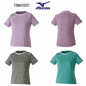 ミズノ ウイメンズ ゲームシャツ 72MA0207 ピンク アロイグレー ミントグリーン S M L XS テニスウエア ソフトテニスウエア バドミントンウエア
