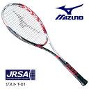 ミズノ ソフトテニスラケット ジストT-01 63JTN63301 前衛 ホワイト×レッド 0U 1U