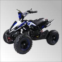最新大口径6インチ仕様!前後ディスクブレーキ50ccMINI四輪バギー最高速度45km/h青色トリプルサス仕様