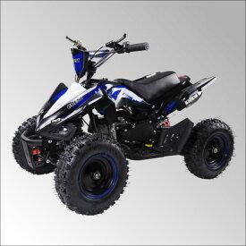 最新大口径6インチ仕様!前後ディスクブレーキ50ccMINI 四輪バギー最高速度 45km/h青色トリプルサス仕様